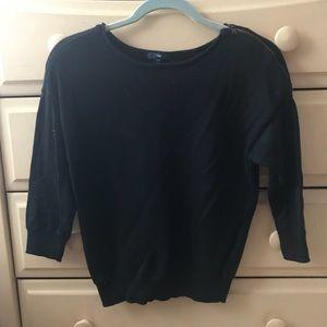 Black quarter length shirt